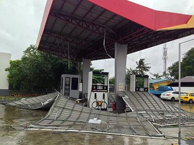 フィリピン セブ台風の様子その2
