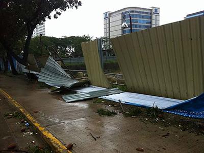 フィリピン セブ台風の様子その3