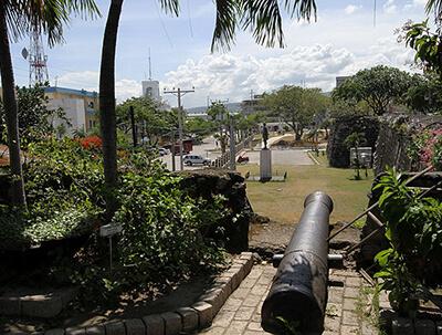 フィリピン セブサンペドロ要塞から見える独立記念公園