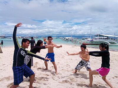 フィリピン セブカオハガン島のビーチ