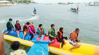 フィリピン セブリゾートの定番バナナボート