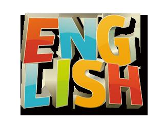 セブITアウトソーシングセンターにて英語力を強調したEnglishイラスト