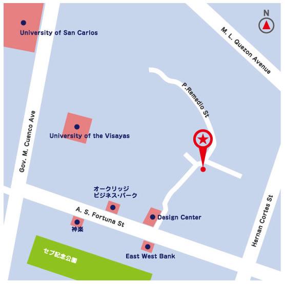 フィリピン セブITアウトソーシングセンター周辺地図