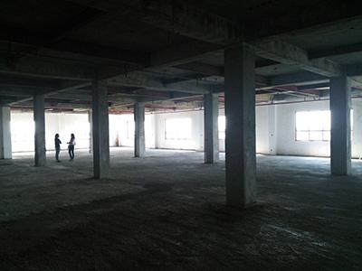 セブITアウトソーシングセンター内装工事前の状態
