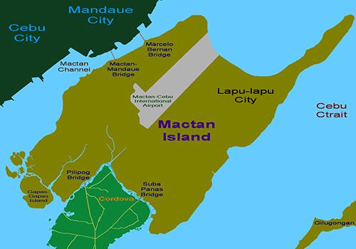 フィリピン・セブのマクタン島の地図